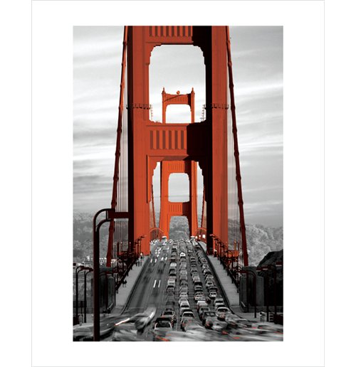 Golden Gate Bridge - San Francisco (Poster 50X40 Cm)