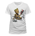 T-shirt Guardians Of The Galaxy 2 - Groot & Tape