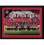 Manchester United - Team Photo 17/18 (Stampa In Cornice 20x15 Cm)