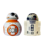 Star Wars - Bb-8 / R2-D2 - Set Sale E Pepe In Ceramica In Confezione Regalo 8X8X10 Cm