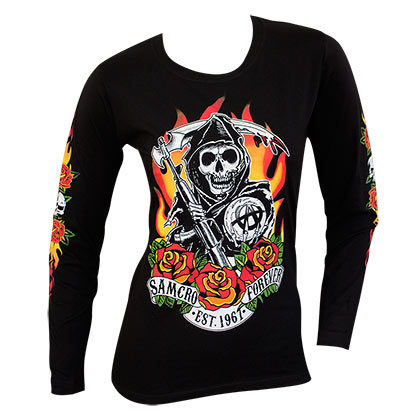 Maglia Manica Lunga Sons of Anarchy da donna