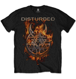 Disturbed - Burning Belief (T-SHIRT Unisex TG. 2)