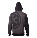 Star Wars Rogue One - Imperial Emblem Zip (felpa Con Cappuccio Unisex )