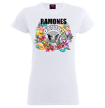 T-shirt Ramones da donna - Design: Circle Flowers