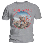 T-shirt Iron Maiden da uomo - Design: Trooper Vintage Circle
