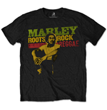 T-shirt Bob Marley da uomo - Design: Roots, Rock, Reggae
