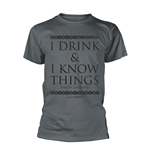 T-shirt Il trono di Spade (Game of Thrones) - I Drink & I Know Things