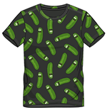 Rick And Morty - Pickle Rick Aop Black (T-SHIRT Unisex )