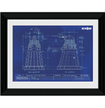 Doctor Who - Dalek Blueprint (Stampa In Cornice 30x40cm)