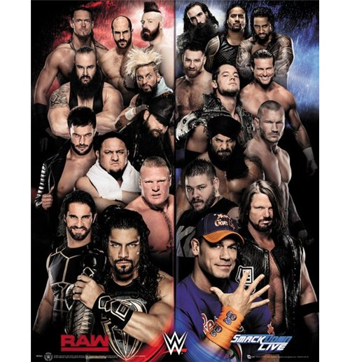 Wwe - Raw Vs Smackdown (Poster Mini 40x50 Cm)