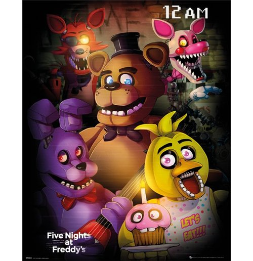 Five Nights At Freddys - Group (Poster Mini 40x50 Cm)