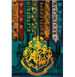 Harry Potter - House Flags (Poster Maxi 61x91.5 Cm)