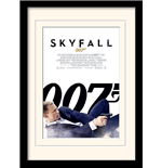 James Bond - Skyfall One Sheet - White (Stampa In Cornice 30X40 Cm)