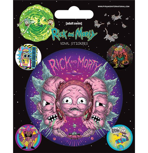 Rick And Morty - Psychedelic Visions (Set Adesivi 12,5X10 Cm)