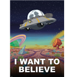 Poster Grande Rick And Morty - I Want To Believe - 100x140 Cm