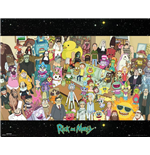 Rick And Morty - Cast (Poster Mini 40x50 Cm)