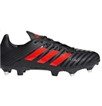 All Blacks Malice Sg NERO-ROSSO Scarpa Rugby Ibrida