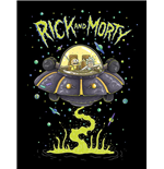 Rick And Morty - Ufo (Stampa In Cornice 30X40 Cm)