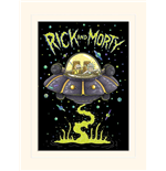 Rick And Morty - Ufo (Stampa 30X40 Cm)