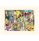 Rick And Morty - Total Rickall (Stampa 30X40 Cm)