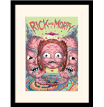 Rick And Morty - Head Splitter (Stampa In Cornice 30X40 Cm)