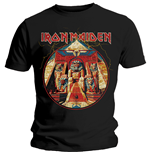 T-shirt Iron Maiden da uomo - Design: Powerslave Lightning Circle