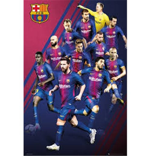 Barcelona - Players 17/18 (Poster Maxi 61x91,5 Cm)