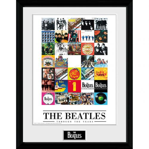 Foto Incorniciata The Beatles Through The Years - 40 x 30 cm