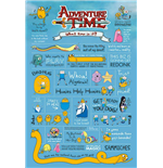 Adventure Time - Infographic (Poster Maxi 61X91,5 Cm)