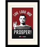 Stampa in Cornice The Big Bang Theory - Live Long And Prosper - 30X40 Cm