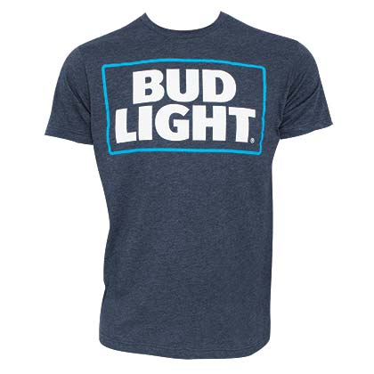 T-shirt Bud Light Basic Logo Blu