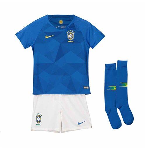 Kit da calcio per bambino Brasile calcio 2018-2019 Away
