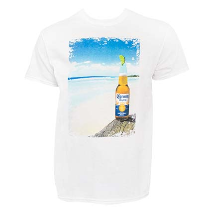 T-shirt Corona Bottle Beach Scene