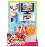 Mattel DVX46 - Barbie - Arredamento Basic Indoor - Salotto Con Gattino