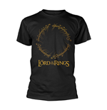 T-shirt Lord Of The Rings ENSCRIPTED RING GOLD