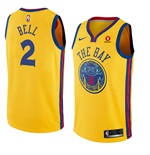 Maglia Golden State Warriors Jordan Bell Nike City Edition Replica
