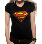 T-shirt Superman da donna - Design: Logo