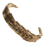 Harry Potter - Wingardium Leviosa Cuff Gold (Braccialetto)