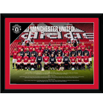 Manchester United - Team Photo 17/18 (Stampa In Cornice 30x40cm)