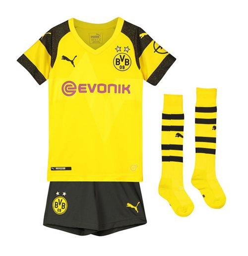 Kit da calcio per bambino Borussia Dortmund 2018-2019 Home