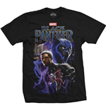 T-shirt Marvel Superheroes da uomo - Design: Black Panther Montage