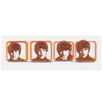 Toppa The Beatles - Design: Heads in Boxes