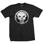 T-shirt Marvel Superheroes da uomo - Design: Punisher Metal Badge