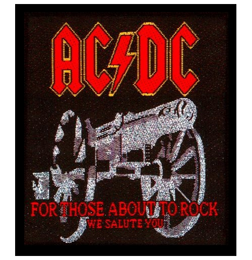 Toppa AC/DC - Design: For those about to Rock