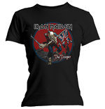 T-shirt Iron Maiden da donna - Design: Trooper Red Sky