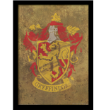 Harry Potter - Gryffindor Crest (Stampa In Cornice 30X40 Cm)