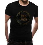 T-shirt Lord Of The Rings - Design: Gold Foil Logo