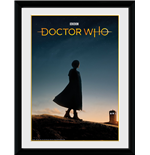 Doctor Who - 13Th Doctor Silhouette (Stampa In Cornice 30x40cm)