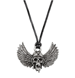 Alchemy: Airbourne: Winged Skull (Collana Con Ciondolo)
