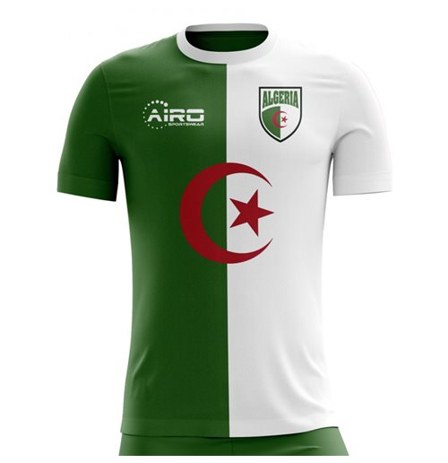 T-shirt Algeria Calcio 2018-2019 Home Concept